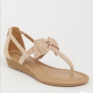 Torrid BLUSH BOW MICRO WEDGE (WW)